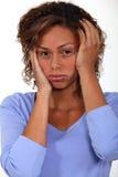 Mujer enfadada. Fotos de archivo libres de regalías