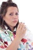 Mujer enferma Fotografía de archivo libre de regalías