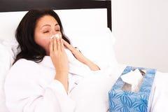 Mujer enferma Fotos de archivo