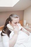 Mujer enferma Foto de archivo