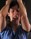 Mujer enfurecida imagen de archivo libre de regalías