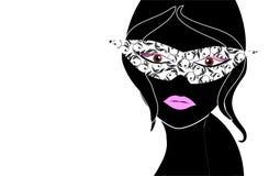 Mujer enmascarada libre illustration
