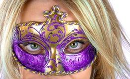 Mujer enmascarada Imagenes de archivo