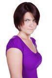 Mujer enojada foto de archivo