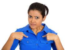 Mujer enojada Fotos de archivo libres de regalías