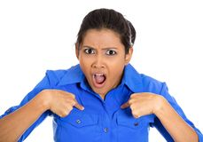 Mujer enojada Imagenes de archivo