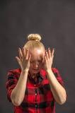Mujer enojada imagen de archivo libre de regalías