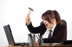 Mujer enojada #7 Foto de archivo
