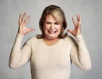 Mujer enojada fotografía de archivo libre de regalías