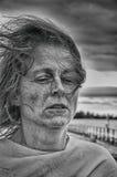 Mujer enojada fuerte foto de archivo libre de regalías