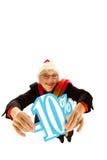 Mujer envejecida media de Santa, descuento del diez por ciento Fotos de archivo libres de regalías