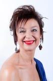 Mujer envejecida media elegante Imágenes de archivo libres de regalías