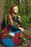 Mujer escandinava romántica foto de archivo