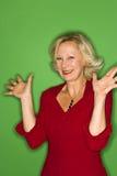Mujer extática Foto de archivo libre de regalías