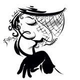 Mujer extraña libre illustration