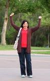Mujer exuberante, emocionada Fotos de archivo libres de regalías