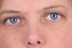 Mujer eyed azul Fotografía de archivo