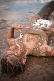 Mujer fangosa Fotos de archivo libres de regalías