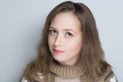 Mujer fea de la cara Imagen de archivo libre de regalías