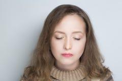 Mujer fea de la cara Fotos de archivo