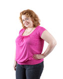 Mujer fea gorda fotografía de archivo libre de regalías