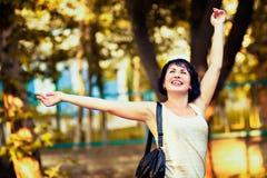 Mujer feliz Imagen de archivo libre de regalías