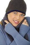 Mujer feliz agradable fotografía de archivo libre de regalías