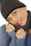Mujer feliz agradable imagenes de archivo