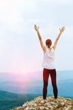 Mujer feliz al aire libre Imagen de archivo libre de regalías