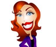 Mujer feliz de la historieta libre illustration