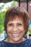Mujer feliz del afroamericano Imagen de archivo libre de regalías