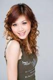 Mujer feliz del asiático de la sonrisa Fotos de archivo libres de regalías
