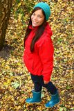 Mujer feliz del otoño Fotografía de archivo libre de regalías