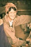 Mujer feliz en Arunachal Pradesh Imagen de archivo libre de regalías