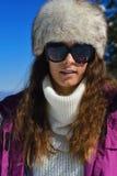 Mujer feliz en el invierno Fotografía de archivo