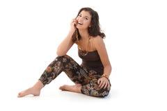 Mujer feliz en el verano Foto de archivo libre de regalías
