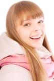 Mujer feliz hermosa en ropa del invierno Fotos de archivo libres de regalías