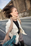Mujer feliz joven Fotografía de archivo libre de regalías