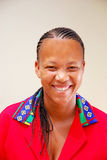 Mujer feliz negra Imágenes de archivo libres de regalías