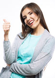 Mujer feliz sonriente de los jóvenes Imagen de archivo