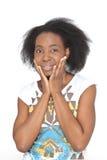 Mujer feliz y sorprendida Imágenes de archivo libres de regalías