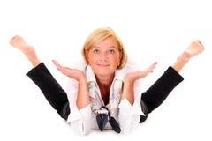 Mujer flexible Imágenes de archivo libres de regalías
