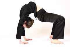 Mujer flexible Imagenes de archivo