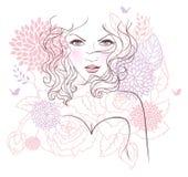 Mujer floral de la belleza
