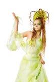 Mujer floral del resorte Fotos de archivo