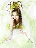 Mujer floral del resorte Fotos de archivo libres de regalías