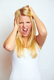 Mujer frustrada Imagen de archivo
