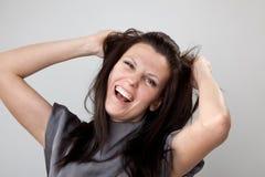 Mujer frustrada Fotos de archivo