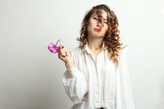 Mujer frustrada Imágenes de archivo libres de regalías