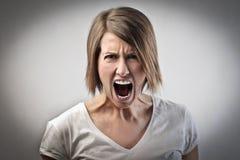 Mujer furiosa fotos de archivo libres de regalías